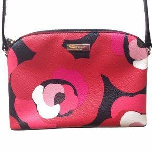 HP🎉 Kate Spade Rose Red Floral Pink Crossbody Bag